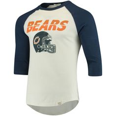 60f28374aed Chicago Bears Junk Food All-American 3 4-Sleeve Raglan T-Shirt - White Navy  -  44.99