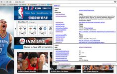 NBA Homepage which includes JSON-LD based Linked Data using Schema.org terms.  #JSONLD #SchemaOrg #SemanticWeb #LinkedData #Sports #Basketball #RDF