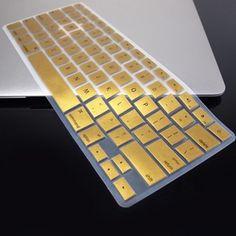 "Metallic Gold Keyboard Cover Skin for MacBook Air 13"" | eBay"