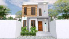 Small Home design Plan with 3 Bedroom - SamPhoas Plan Duplex House Design, Simple House Design, Minimalist House Design, Minimalist Home, Bedroom House Plans, House Rooms, Model House Plan, House Elevation, Story House