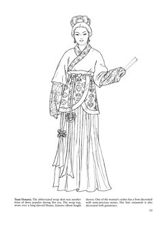 beautiful women coloring pages ancient china two beautiful ladies in ancient china gown. Black Bedroom Furniture Sets. Home Design Ideas