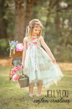 Spring Fling Dress Halter Style by JellyLouCreations on Etsy