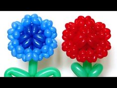 Василек Гвоздика из шаров / Cornflower Carnation flower of balloons - YouTube
