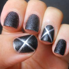 X-Men nail art for Days of Future Past movie =)