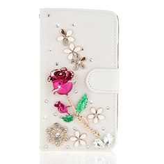 For Alcatel One Touch Idol Alpha Ot6032 Case, Moonmini® White 3d Fashion Handmade Bling Diamond Pu Leather Flip http://www.smartphonebug.com/accessories/20-coolest-alcatel-idol-alpha-accessories/