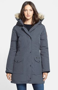 f64de6d9cea8 Canada Goose Trillium Parka with Genuine Coyote Fur Trim available at  Nordstrom Canada Goose Parka