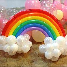 Rainbow Balloon Set Birthday Party Wedding Decor (20 Long Balloon, 16 Round Ballon, Random Color) 2016 - $4.99