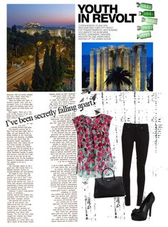 """Athens City View!"" by lovelysandy5 ❤ liked on Polyvore"