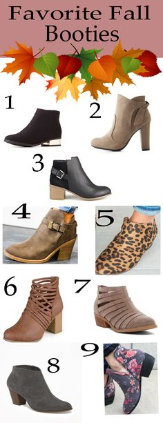 fall booties, inexpensive fall booties, what booties to wear for fall, fall booties, fall booties under $50, shopping, fall accessories, fall shoes on a budget, budget friendly booties, shopping guide, favorite booties, booties for fall