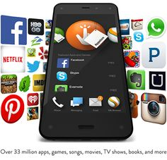 Apps & More.Get your Fire Phone! Future Gadgets, New Gadgets, Android Ice Cream Sandwich, Amazon Fire Phone, Hbo Go, Smartphone, Clever Gadgets, Best Amazon Products, Camera Shop