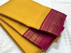 THKS0110045- Thamboori handwoven pure kanchipuram silk- korvai yellow rani pink beauty