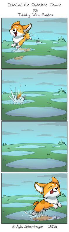 Ichabod the Optimistic Canine :: Thinking With Puddles | Tapastic Comics - image 1
