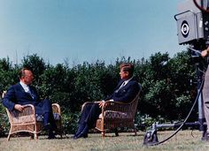Walter Cronkite interviews President John F. Kennedy, September 12, 1963.