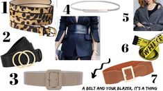 OBSESSED with the belt with a blazer trend Cheap Fashion Jewelry, Hermes Belt, Belts For Women, Jewelry Accessories, Blazer, Leather, Outfits, Style, Swag