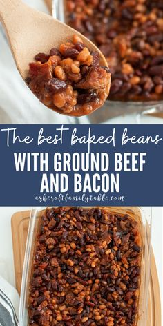 Steak Side Dishes, Side Dishes For Bbq, Healthy Side Dishes, Vegetable Side Dishes, Side Dish Recipes, Vegetable Recipes, Easy Recipes, Baked Beans With Hamburger, Best Baked Beans