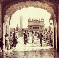 India, 1870 The Golden Temple, Harmandir Sahib, a Sikh Gurdwara in Amritsar