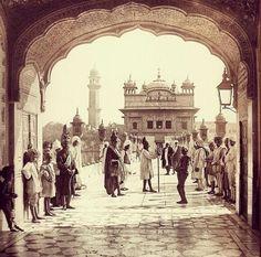 India, 1870 The Golden Temple, Harmandir Sahib, a Sikh Gurdwara in Amritsar