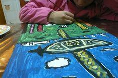 """""""Ciudad"""" Pintura con acrílicos. Milagros V."""