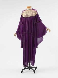 Evening Dress, Zandra Rhodes (British, born 1940): ca. 1966, British, silk.