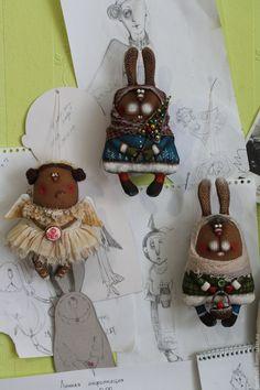 Купить Малявки... - комбинированный, текстильная кукла, ароматизированная игрушка, новогодний подарок, новогодний сувенир, ткань