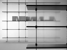 SECTIONAL MODULAR ALUMINIUM BOOKCASE ELEGIE BY MISURAEMME | DESIGN IGNAZIO GARDELLA