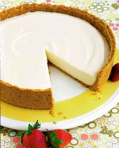 No-Bake Cheesecake - I substituted Manischewitz Kosher for Passover and Gluten Free pie crust to make this a Celiac and Passover friendly desert!