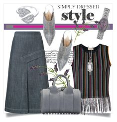"""""""Simply Dressed STYLE"""" by helenaymangual ❤ liked on Polyvore featuring Tim Holtz, Maison Flâneur, TIBI, Paul Andrew, Alexander Wang, Monica Rich Kosann, Anita Ko and Corum"""
