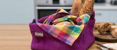 Bread basket, baking, plaid, kitchen textile, www.dishwish.co.il