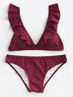 To find out about the Ruffle Strap Triangle Bikini Set at SHEIN, part of our latest Bikini Sets ready to shop online today! Bikini Set, Strap Bikini, Bikini Beach, Cute Swimsuits, Cute Bikinis, Ropa Interior Boxers, Trendy Outfits, Cute Outfits, Cute Bathing Suits