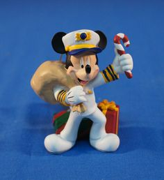Disney Cruise Line Captain Mickey Mouse Resin Christmas Ornament #DisneyCruiseLine #ChristmasOrnament