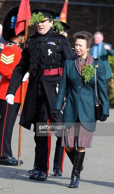 HRH Princess Anne, The Princess Royal visits the 1st Battalion Irish Guards during a St Patrick's Day Parade at their new home, Victoria Barracks, on March 17, 2009 in Windsor, England.