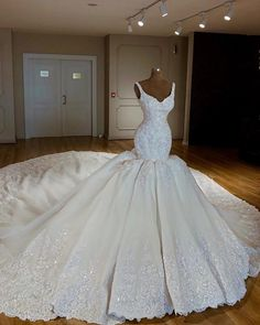 795d36f31b Luxury crystal beaded Mermaid Wedding Dress