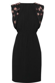 Miu Miu Embellished open-back crepe dress | NET-A-PORTER