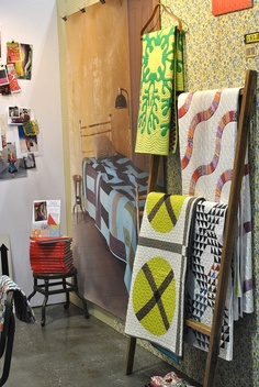 Quilts in the Denyse Schmidt Booth by Lindsay Sews {@CraftBuds}