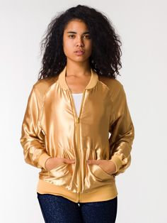 Another idea for the Drive costume. Just buy this night jacket from American Apparel and embroider the scorpion on the back. $45 a lot cheaper than the official replica.      Unisex Satin Charmeuse Night Jacket | Zip-Ups | Women's Outerwear | American Apparel