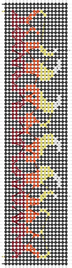 Alpha friendship bracelet pattern added by pointletty. Diy Bracelets Easy, Thread Bracelets, Bracelet Crafts, Beaded Bracelets, String Friendship Bracelets, Friendship Bracelets Designs, Bracelet Designs, Macrame Patterns, Peyote Patterns