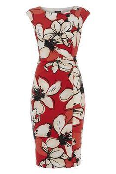 Floral Side Ruched Jersey Dress - http://www.romanoriginals.co.uk/invt/90935