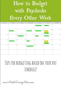 How to Budget If You are Paid Every 2 Weeks - what a simple solution to something that can be so hard when it comes to paychecks! Budgeting, #Budget, Budget Tips