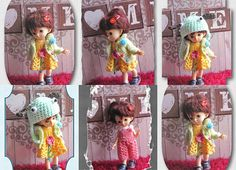 4 x Crocheted dress on a doll Fairyland pukifee ante bjd Hand Knitted Sweaters, Fairy Land, Bjd, Hand Knitting, Crochet Necklace, Crochet Hats, Dolls, Etsy, Dresses