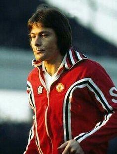 Stuart Pearson of Man Utd in 1977.