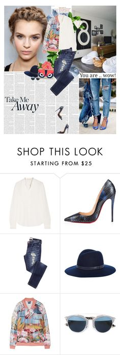 """""""Untitled #1995"""" by amimcqueen ❤ liked on Polyvore featuring Vanessa Bruno, Christian Louboutin, rag & bone, adidas, Christian Dior and Fendi"""