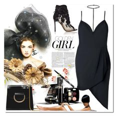 """little black dress"" by bellamonica ❤ liked on Polyvore featuring Murphy, Little Liffner, Gianvito Rossi and Chanel"