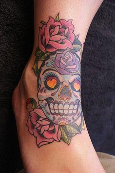 Girl Skull Tattoo Designs | ... star tattoos for girls on foot skull tattoo designs for girls 2 skull