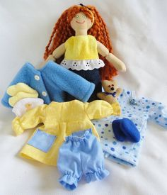 Redhead Dress Up Doll with 4 Outfits,   Toy Doll by Joelle's Dolls, $40.00