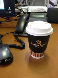 Waking up Monday with my Gloria Jeans! Cannot live without a very vanilla latte.
