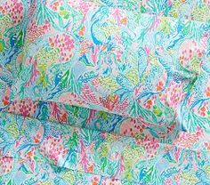 Shop Pottery Barn Kids' Lilly Pulitzer Mermaid Cove Kids Bedroom for girls room ideas. Find kids bedroom ideas and inspiration at Pottery Barn Kids. Mermaid Bedding, Mermaid Bedroom, Mermaid Pillow, Lilly Pulitzer, Lily Pulitzer Bedding, Mermaid Cove, Designer Friends, Baby Furniture, Pottery Barn Kids