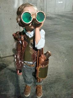 "River Owsley Wilde in ""steampunk costume handmade by his mom, Megan Briseno."