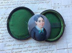 """ANTIQUE DATED 1847 PORTRAIT MINIATURE PORCELAIN PLAQUE SIGNED """"RIBAN"""""""
