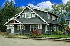 The Hawthorn - Bungalow Company Authentic Bungalow House plans designed for the way we live today. Craftsman Bungalow House Plans, Craftsman Porch, Bungalow Floor Plans, Craftsman Exterior, Bungalow Homes, Craftsman Bungalows, Craftsman Style, Exterior Paint, Best House Plans
