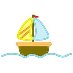 Cute Sailboat Applique - 3 Sizes! | Boats | Machine Embroidery Designs | SWAKembroidery.com Band to Bow